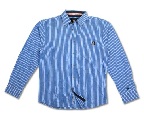 APP034 Long Sleeve Shirt RRP £29.99 *NEW* Old Guys Rule Blue//White