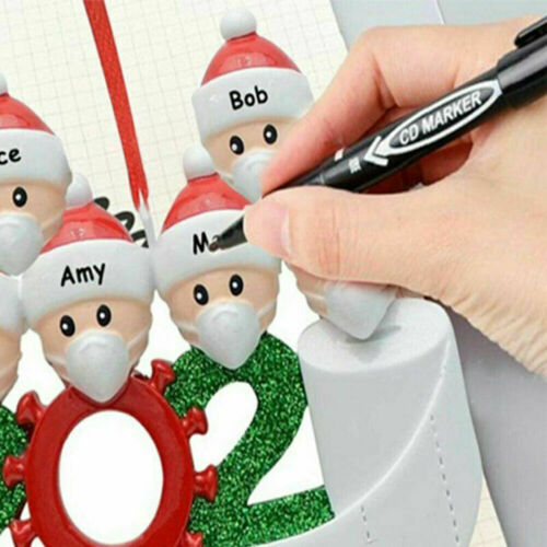 2020 Personalized Family Christmas Ornament Mask Holiday Gift Custom Names 5