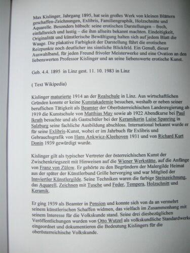 Libro rilegatura in brossura ca 120 pezzi EXLIBRIS PF piccolo grafico Max Kislinger