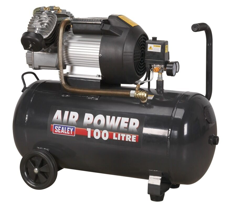 Sealey Compressor 100ltr V-Twin Direct Drive 3hp SAC10030VE