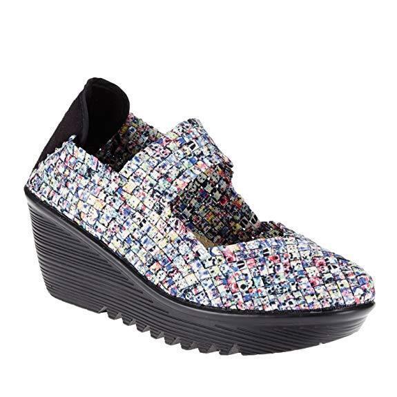 Bernie Mev Women's Lulia Wedge Pump Splash shoes Size 37