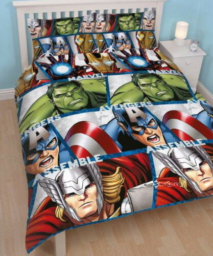 Official Marvel Avengers Single Double Duvet Cover Bed Set Gift Age of Ultron