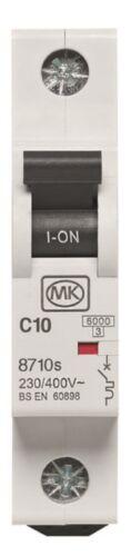 MK 8710 S Sentry MCB Single pôles C Type 10 A 230 V 8710