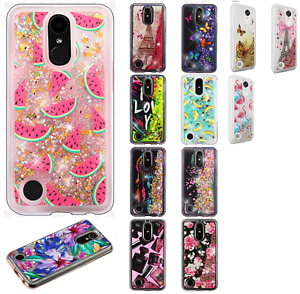 purchase cheap 0c8f0 a796e Details about For LG K20 Plus Liquid Glitter Quicksand Hard Case Phone  Cover Accessory
