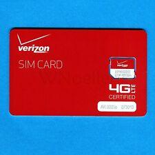 New Genuine Verizon Micro SIM Card • supports 4G LTE •prepaid or postpaid plans