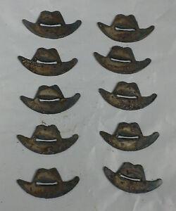 "Lot of 10 Iron Cross Maltese Shapes 2/"" Rusty Metal Craft Ornament Sign Chopper"