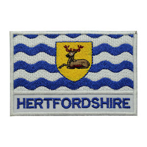 Hertfordshire County Flag Patch Iron On Patch Sew On Embroidered Patch