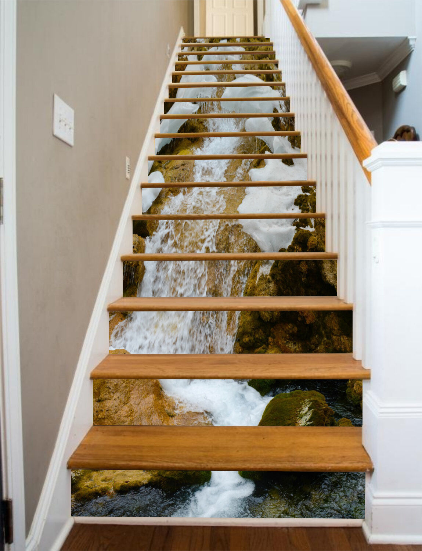 3D Eis Berg Natur Stair Risers Dekoration Fototapete Vinyl Aufkleber Tapete DE