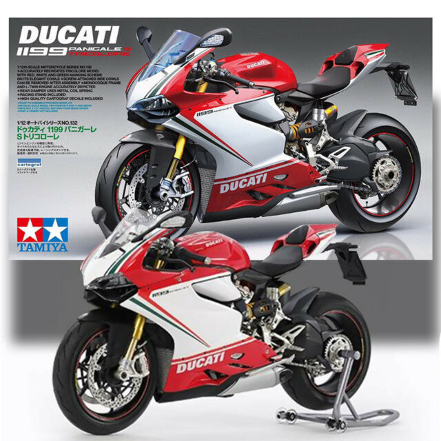 Tamiya 1 12 Ducati 1199 Panigale S Tricolor Kit No 132 Motorcycle
