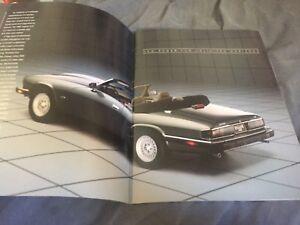 1982 Jaguar XJS V12 USA Market Brochure Catalog Prospekt