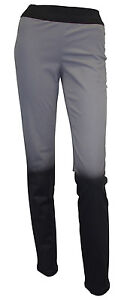 Women-039-s-LAURA-SCOTT-leggings-jeggings-COTTON-elastic-two-tone-black-grey-wear
