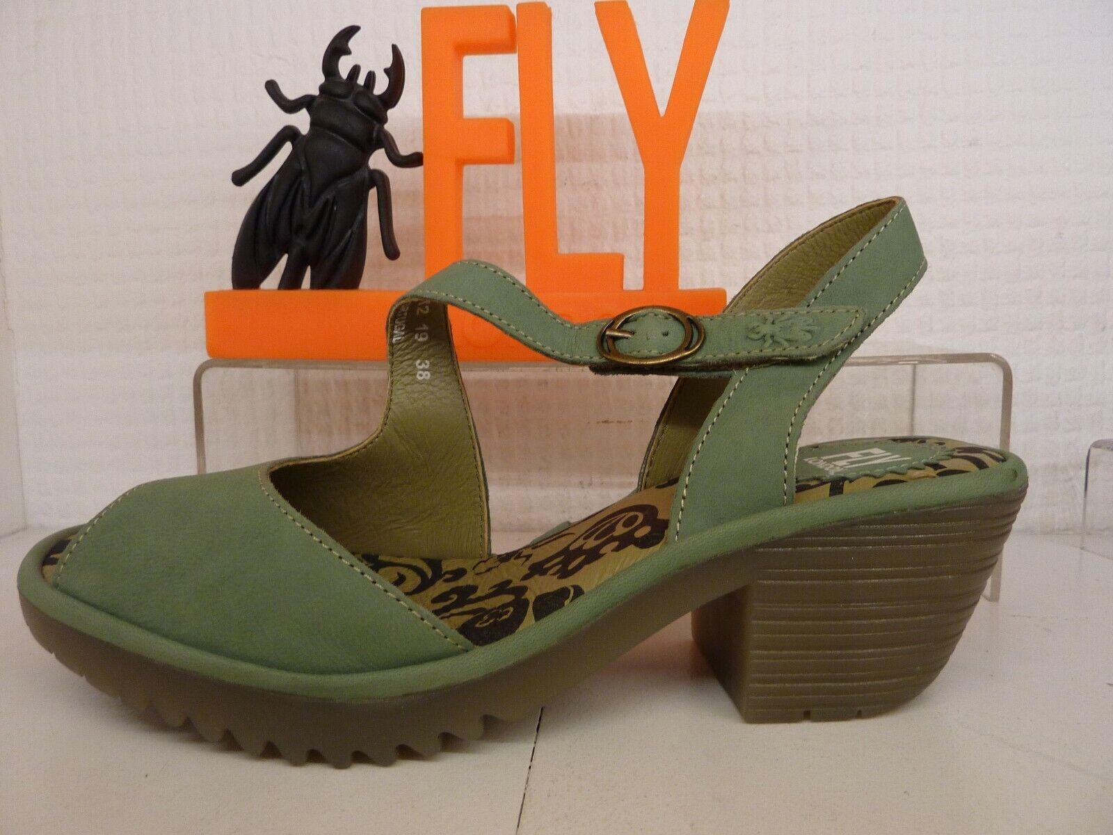 Cuero De Correa Verde Jade London Fly Hebilla Wyno Zapatos