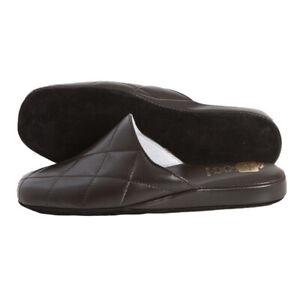 Pantofole da Camera Uomo in Pelle con fondo camoscio antiscivolo babbucce chiuse