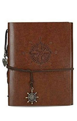 Photo Album Scrapbook Vintage Leather Scrap Book Memory Book Anchor