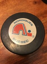 Quebec Nordiques Trench Ziegler NHL Hockey GAME Puck Vintage (KC)