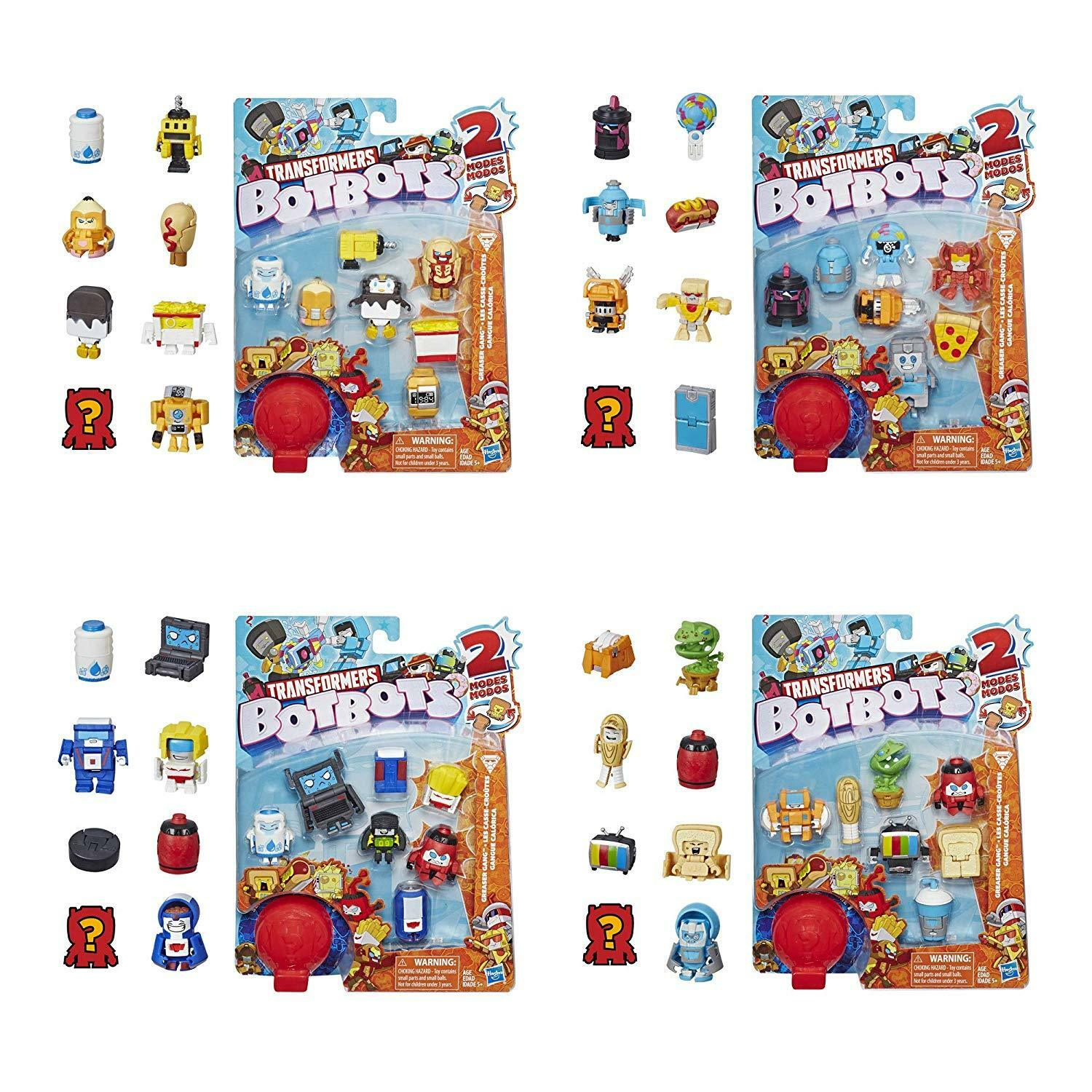 Transformers Botbots Series 1 Mystery 2in1 cifras   Greaser Gang 8Pack x4 nuovo