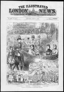 1881-Antique-Print-BERKSHIRE-WINDSOR-PARK-Military-Volunteer-Review-231
