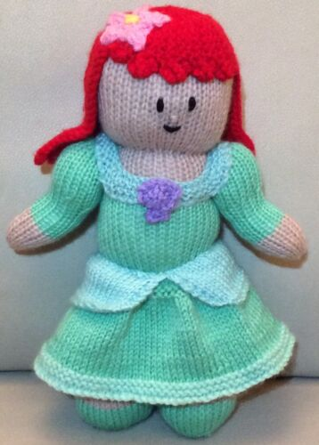 KNITTING PATTERN Ariel inspired 28 cms soft toy Little Mermaid Princess doll