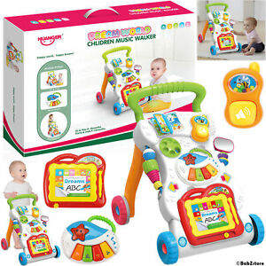 2 In 1 First Steps Baby Walkers Sounds Music and Lights Fun Push Along Walker 6924431491524