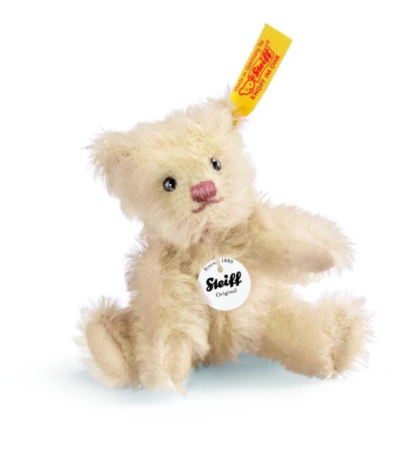Steiff Mohair Mini Teddy Bear Cream EAN 040283 New Handmade in Germany