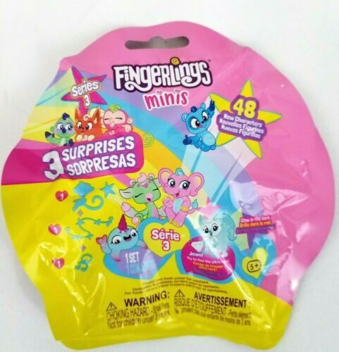 FINGERLINGS MINIS Series 3 Charm Blind Pink Yellow Bag NEW SEALED