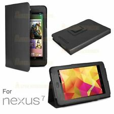 Asus Google Nexus 7 PU Leather Stand Case Cover 1 Gen 2012 Black Suede Inerior