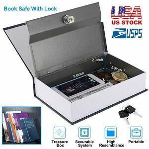 Secret Dictionary Book Safe Jewellery Money Cash Box Security Safety Key Lock