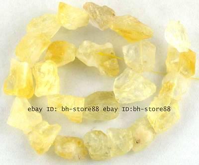 12x22mm Natural rough Citrine baroque gemstone Beads15'