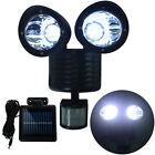 Dual Security Detector Solar Spot Light Motion Sensor Outdoor 22LED Floodlight O