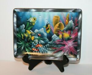 Franklin-Mint-Limited-Edition-The-Colors-Of-Paradise-Plate