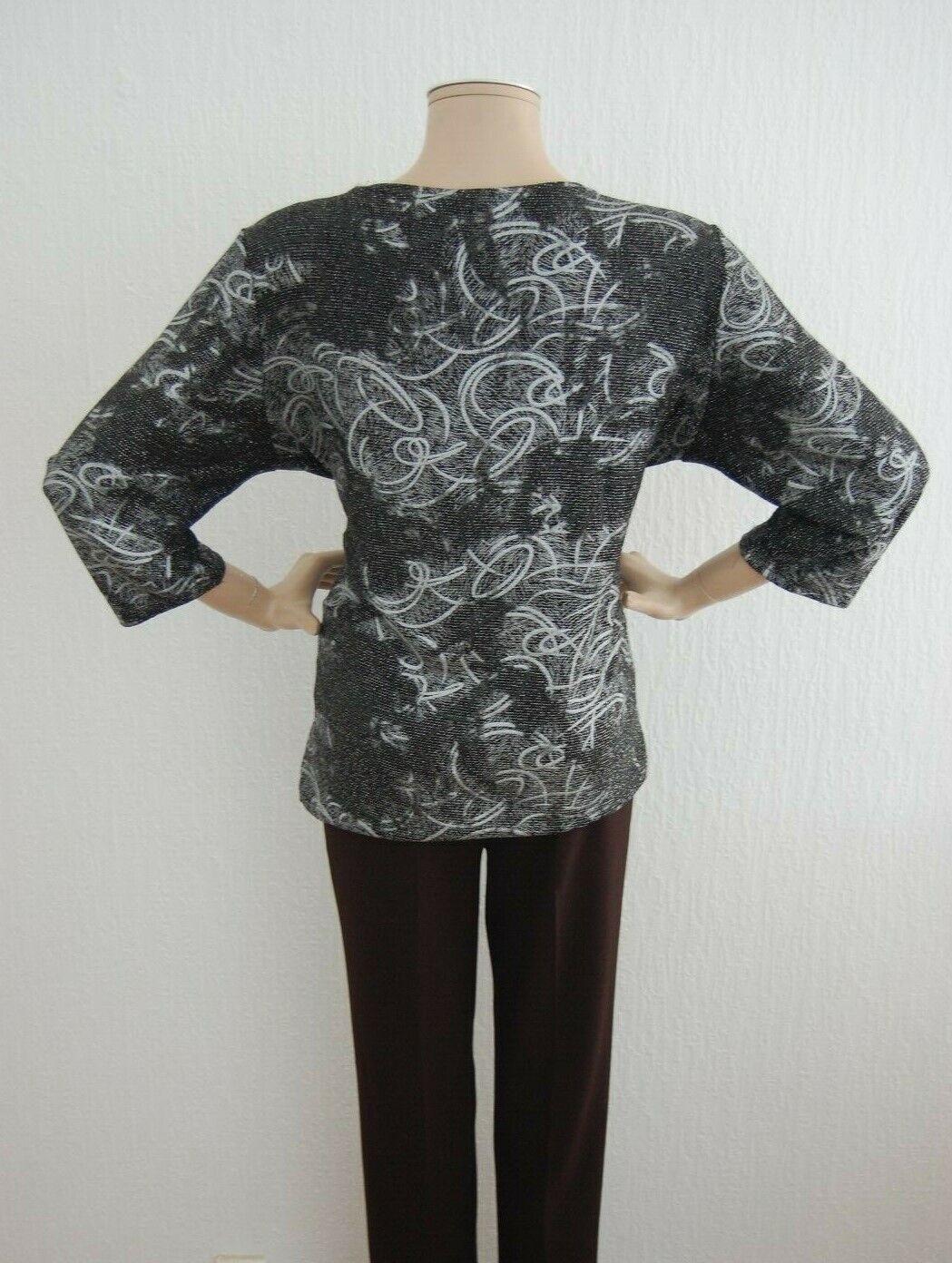 BASSINI    DamenBlause Shirt Silber Schwarz  MADE IN U.K | Sonderkauf  | Verschiedene  eebb18