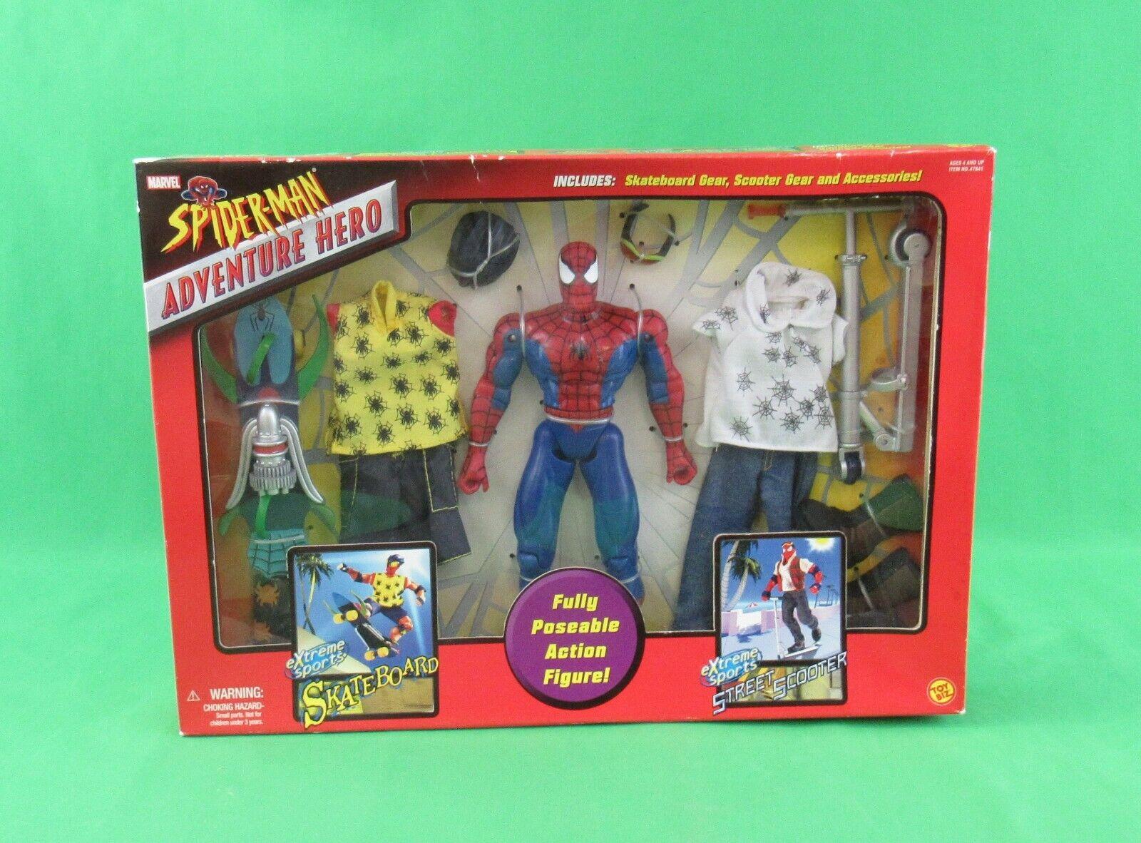 giocattoloBiz Marvel Spider-uomo Adventure Hero cifra with Gear & Accessories Sealed