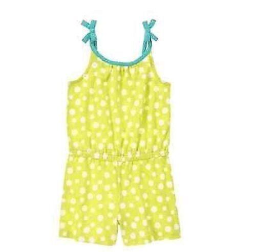 NWT Gymboree Girls Desert Dreams Lime Green Polka Dot Romper Sz 4 5 6 7 8 10 12