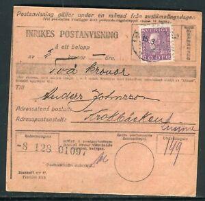 HonnêTe Suède - Document Pour Krokbacken En 1921 - Réf M103