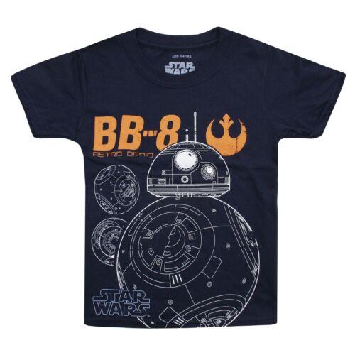 Star Wars Officiel Garçons-Manches Courtes Enfants T-Shirt-BB8 astro droid 9-12 ans