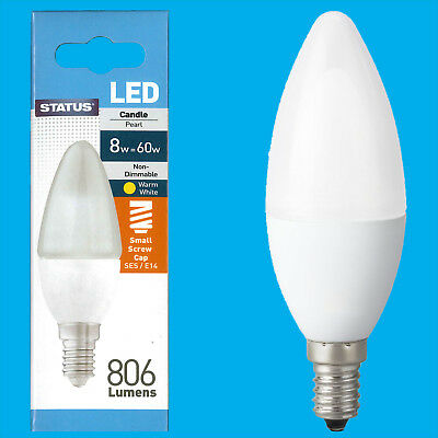 4x 60W CLEAR CANDLE INCANDESCENT FILAMENT LIGHT BULBS SMALL EDISON SCREW SES E14