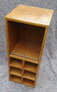 Cherry-Wood-Style-wine-rack-kitchen-or-bathroom-wall-cabinet-open-faced-shelf