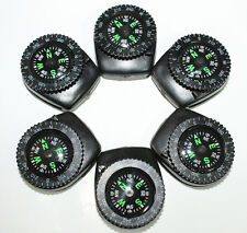 6pc Liquid Filled Wristband Clip-On Navigation Compass
