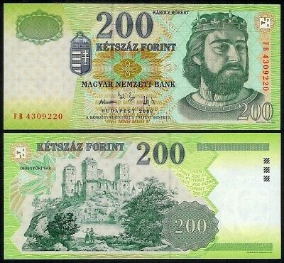 HUNGARY 200 FORINT 2006 P187f UNCIRCULATED