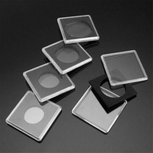 5pcs Lighthouse Square Coin Capsules Quadrum Sizes 24~40mm Snaplock Holders