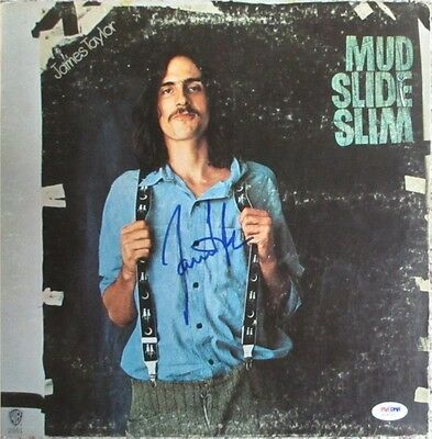 James Taylor Mud Slide Slim Autographed Record Album Lp Psa/dna Coa Records