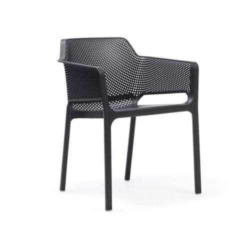 Stacking chair net armchair with armrests Garden Exterior Fiberglass