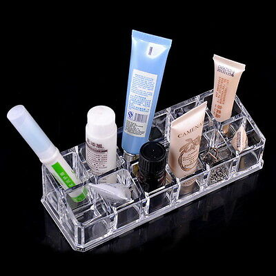Makeup Cosmetics Lipstick Acrylic Organizer Stand Display Holder Storage Rack KK