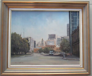 Charles-Boch-Oil-on-board-034-At-Victoria-Square-034-Adelaide-50cm-x-40cm-NO1