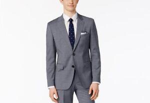 418018158 $1145 HUGO BOSS Men's SLIM Fit Wool Sport Coat GRAY SOLID SUIT ...