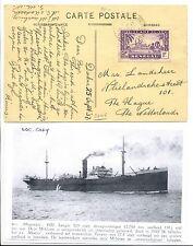 SENEGAL- N.S.M. 1937-9-25  AK+DOC = S.S. MADOERA = PM- SENEGAL- NETHERLANDS   VF