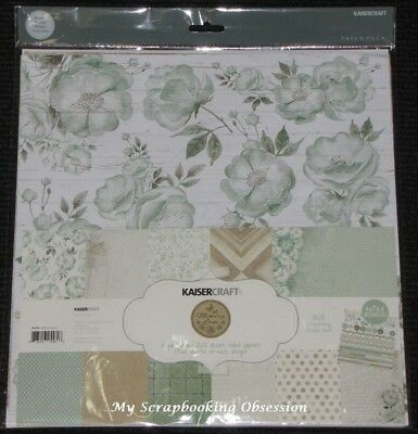 """Kaisercraft 'memory Lane' 12x12"""" Paper Pk + Stickers Flowers/floral Kaiser 05/18 Fijn Vakmanschap"""