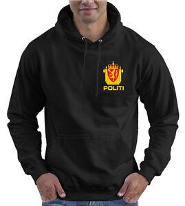 Unisex-Hoodie-Kids-Men-Military-Norwegian-Police-Service-Politi-Norway
