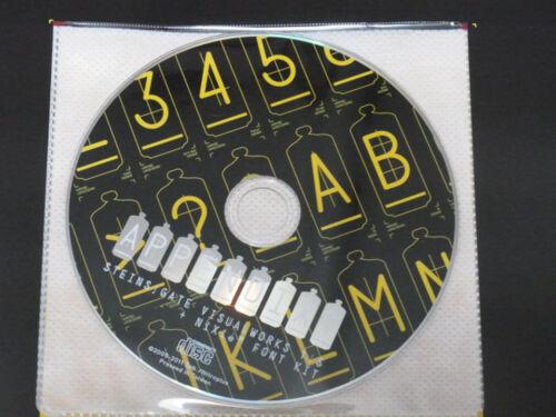 huke HWB SteinsGate VISUAL WORKS 1.5 NiXie Font Kit w CD-ROM Steins Gate