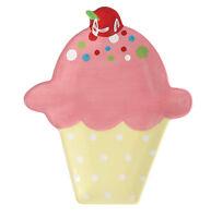 99071 Strawberry Ice Cream Cone Sundae Spoonrest Kitchen Bar Utensil Holder Tray